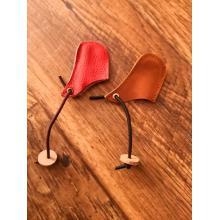 Leather string holder