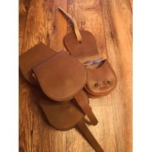 Leather side bag